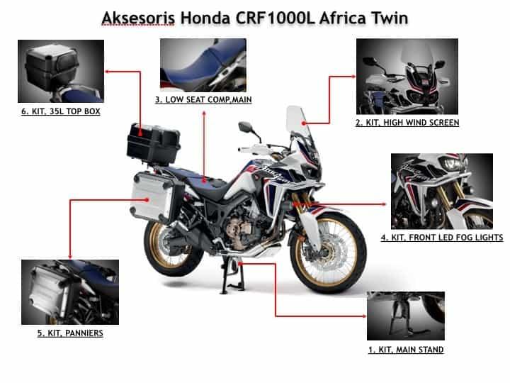 Daftar Aksesoris Resmi Honda CRF1000L Africa Twin
