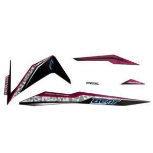 871X0K81N00ZCL Stripe Set Magenta Black L