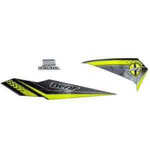 871X0K81N10ZAL Stripe Set Black L