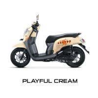 New Honda Scoopy Playful Cream