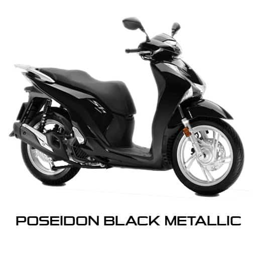 Honda SH150i Poseidon Black Metallic