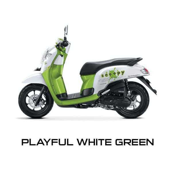New Scoopy Playful White Green