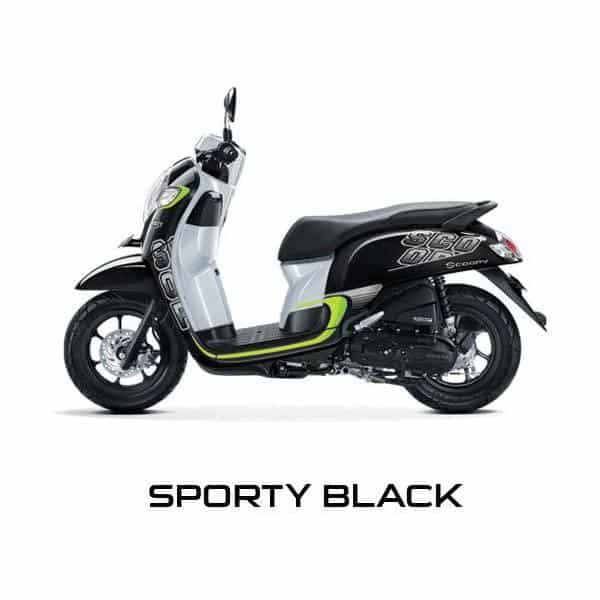 New Scoopy Sporty Black