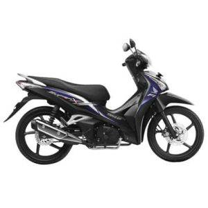 supra x 125 helm-in pgm-fi black violet