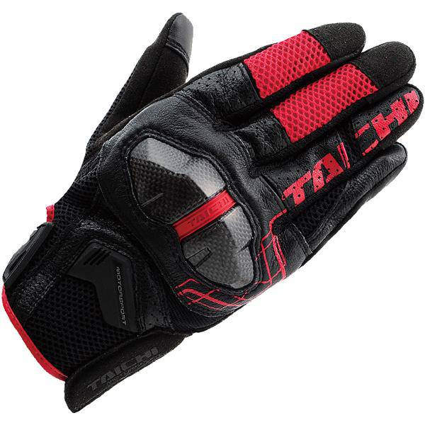 RS Taichi Armed Mesh Glove Black Red RST427