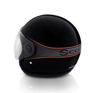 Helmet Assy Retro Hitam