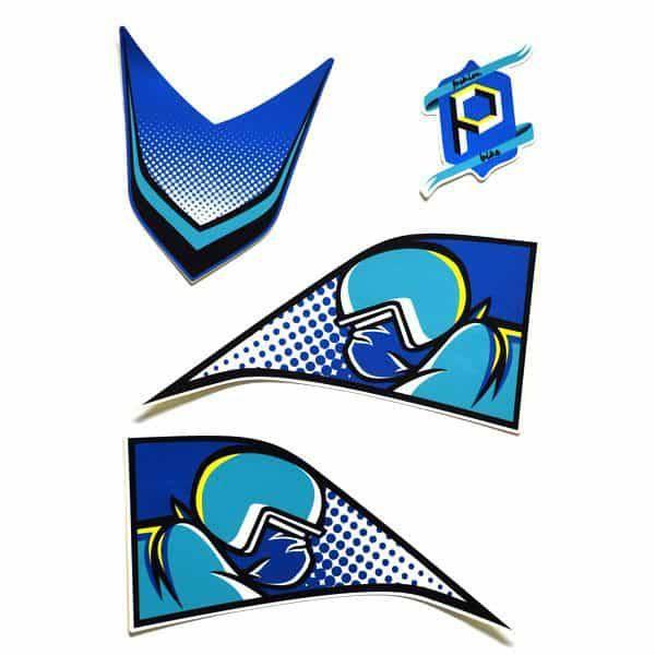 Sticker B Pop Art Blue 871X0K6ARTBL