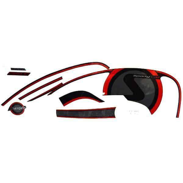 Stripe Black Red R 871X0K16A10ZAR