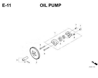 E11 – Oil Pump – Katalog Honda Scoopy eSP K93