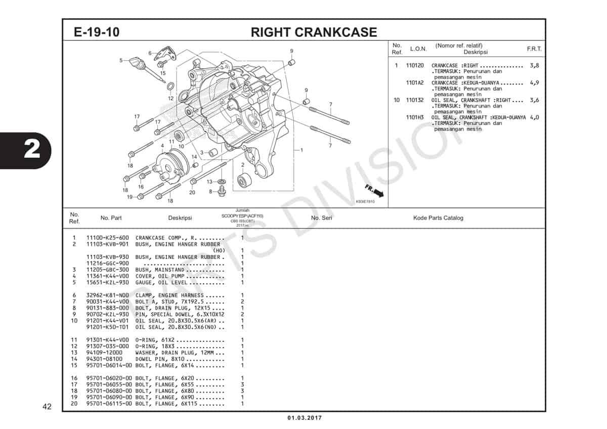 E19-10-Right-Crankcase-Katalog-Scoopy-eSP-K93