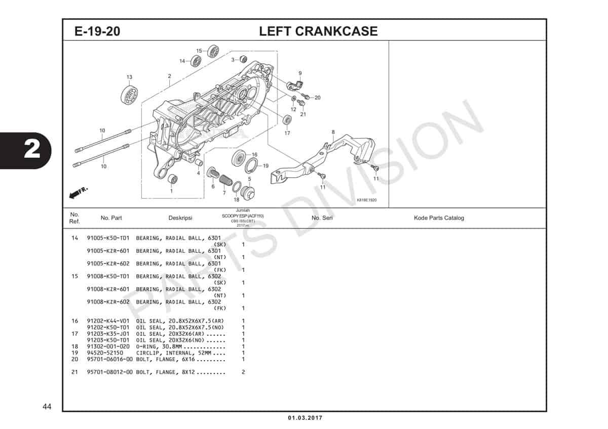 E19-20-2-Left-Crankcase-Katalog-Scoopy-eSP-K93