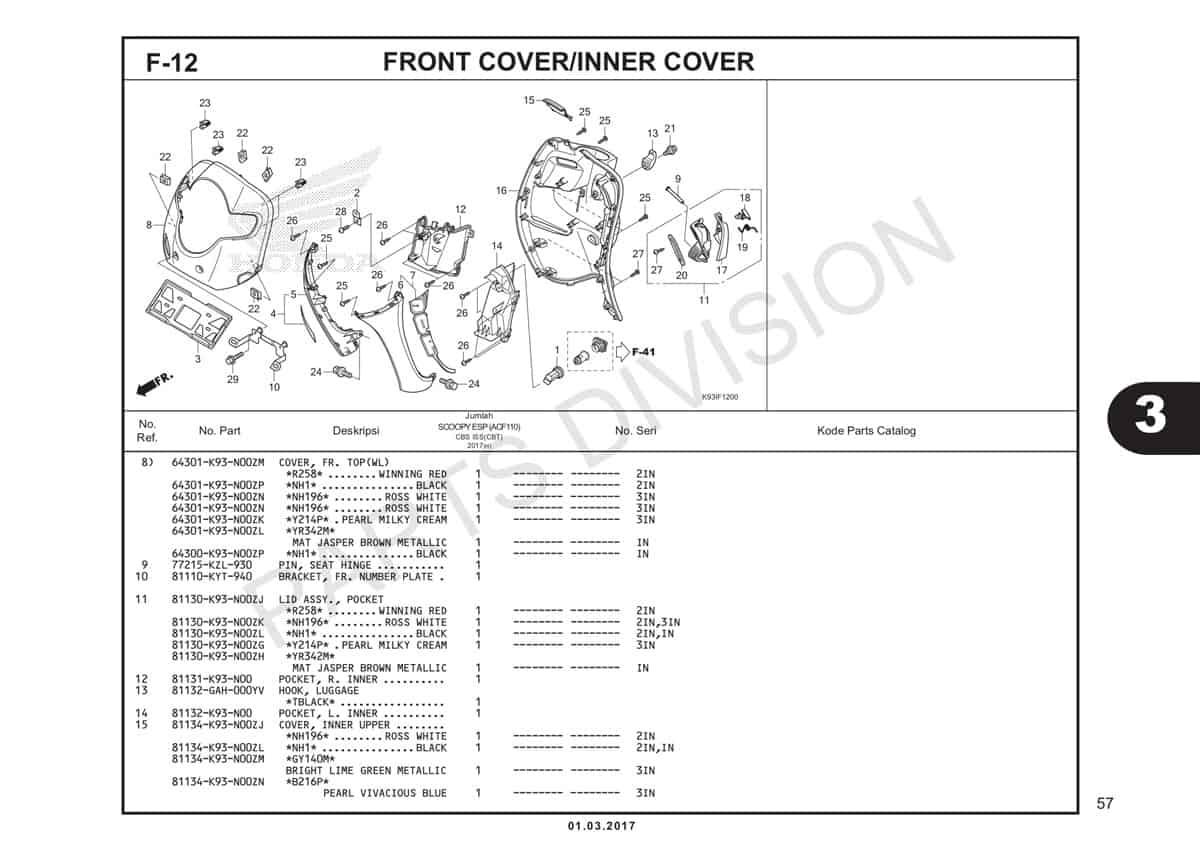 F12-1-Front-Cover-Inner-Cover-Katalog-Honda-Scoopy-eSP-K93