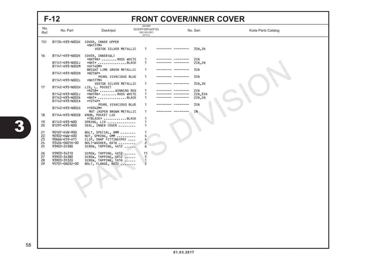 F12-2-Front-Cover-Inner-Cover-Katalog-Honda-Scoopy-eSP-K93