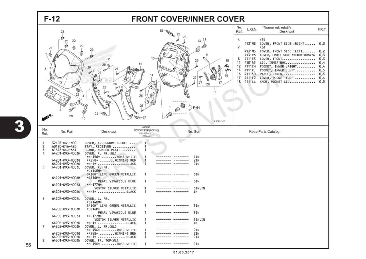 F12-Front-Cover-Inner-Cover-Katalog-Honda-Scoopy-eSP-K93