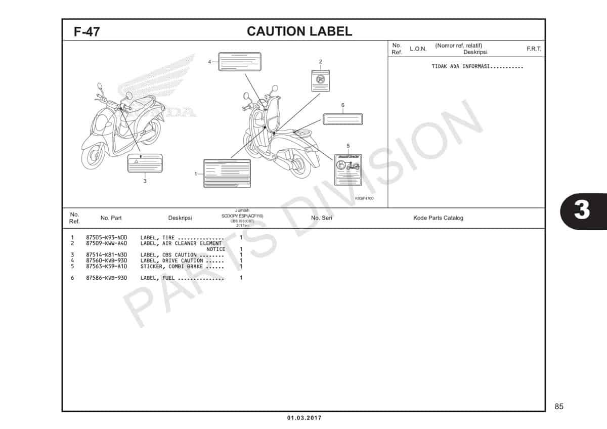 F47-Caution-Label-Katalog-Honda-Scoopy-eSP-K93