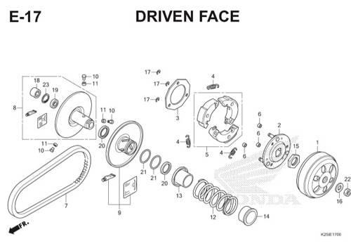 E17 Driven Face BeAT eSP K25
