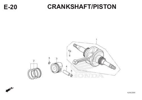 E20 Crankshaft / Piston BeAT eSP K25