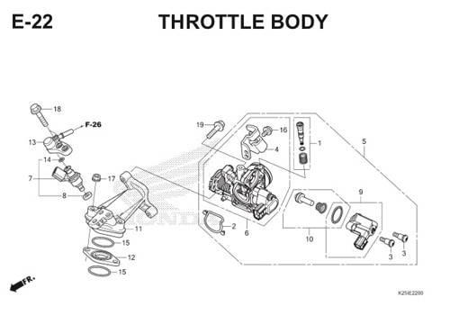 E22 Throttle Body BeAT eSP K25