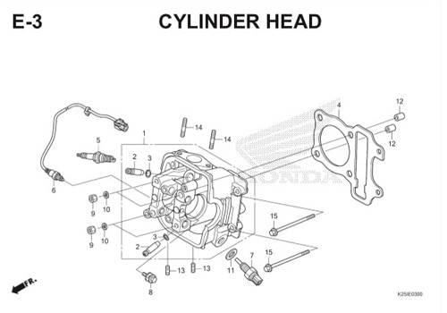 E3 Cylinder Head BeAT eSP K25