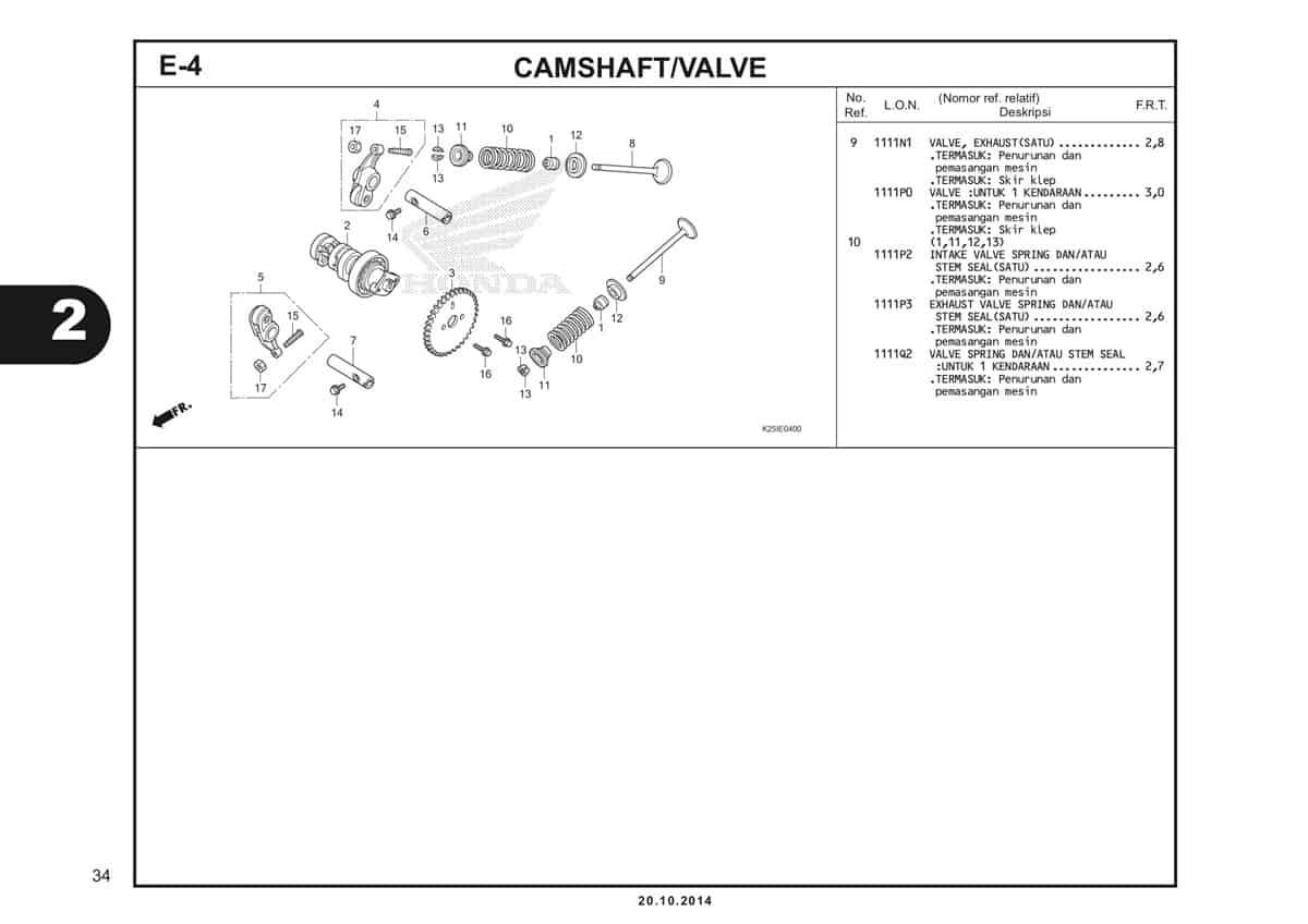 E4 1 Camshaft / Valve Katalog BeAT eSP K25