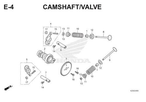 E4 Camshaft / Valve BeAT eSP K25