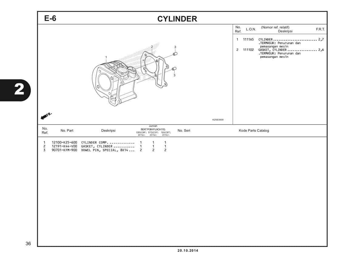 E6 Cylinder Katalog BeAT eSP K25