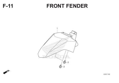 F11 – Front Fender – Katalog Honda BeAT eSP K25