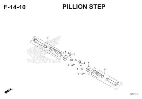 F 14 10 Pillion Step BeAT eSP K25