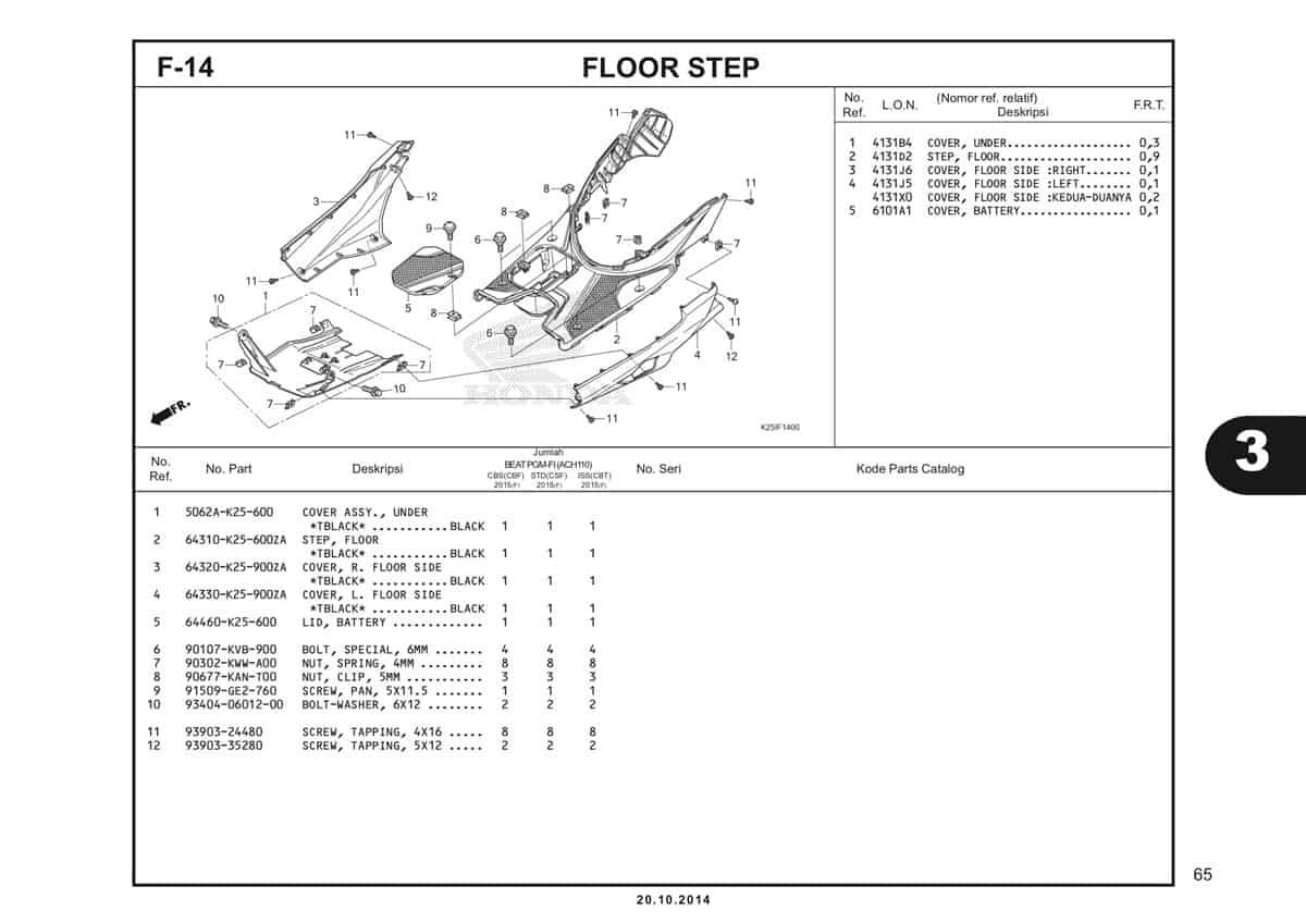 F 14 Floor Step Katalog BeAT eSP K25