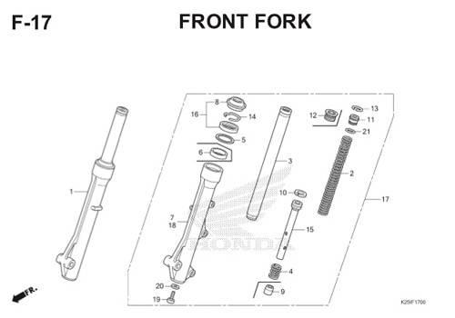 F 17 Front Fork BeAT eSP K25