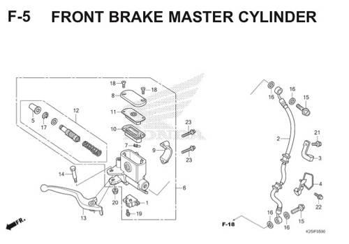 F5 Front Brake Master Cylinder BeAT eSP K25