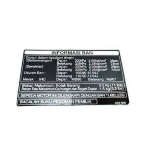 Label Tire 87505K93N00