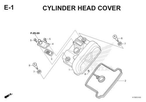E-1 Cylinder Head Cover CB150R StreetFire K15