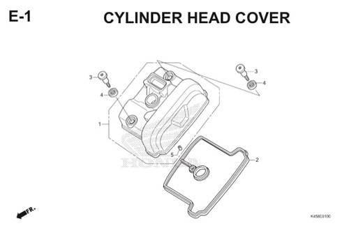 E-1 Cylinder Head Cover CBR 150R K45A