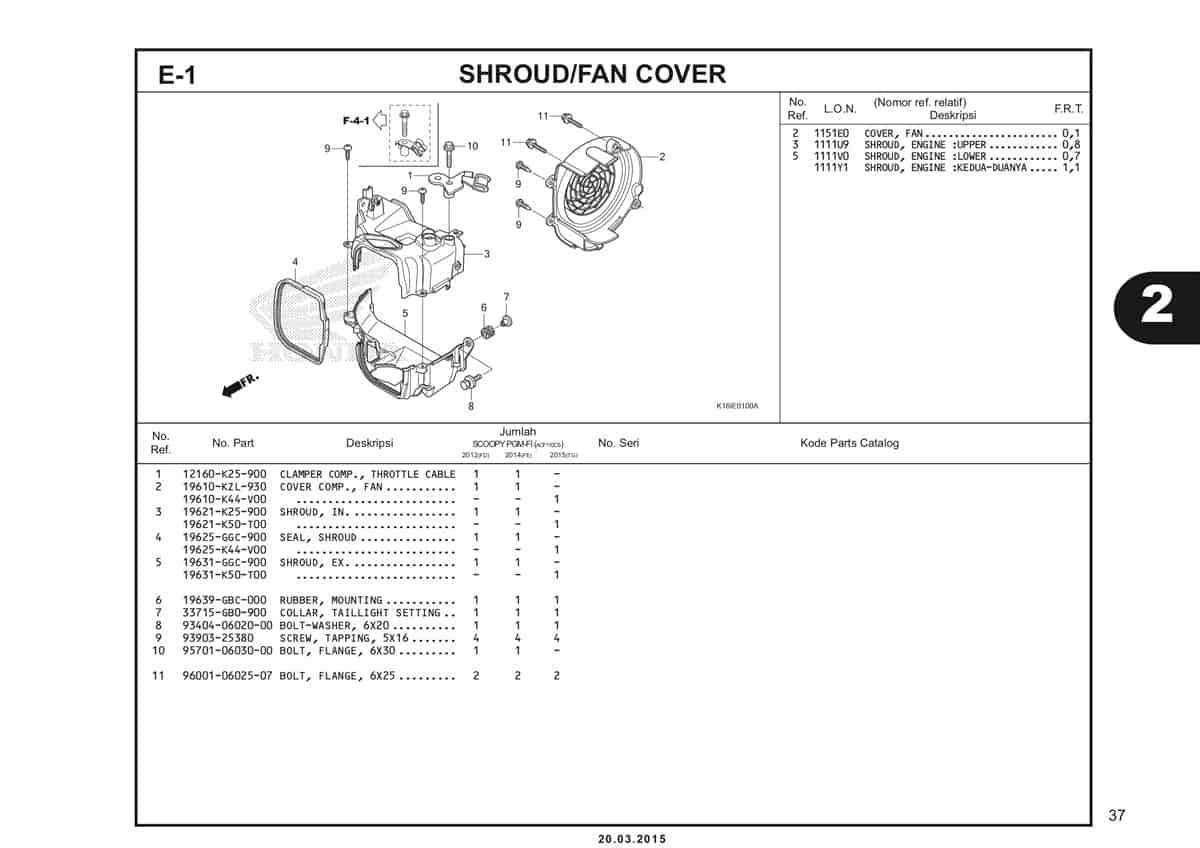 E-1 Shroud Fan Cover Katalog Scoopy eSP K16