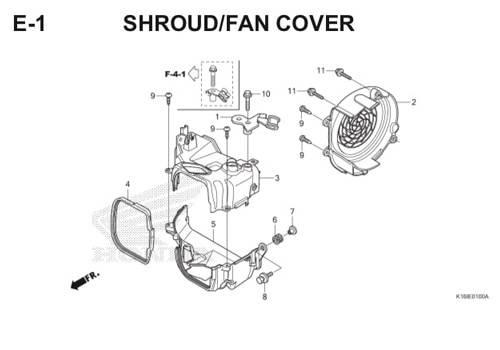 E-1 Shroud Fan Cover Scoopy eSP K16