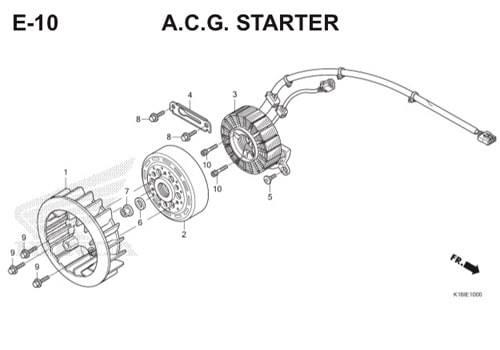 E10 – A.C.G Starter – Katalog Honda Scoopy eSP K16