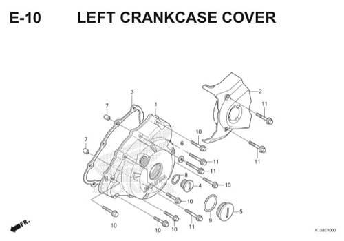 E-10 Left Crankcase Cover CB150R StreetFire K15