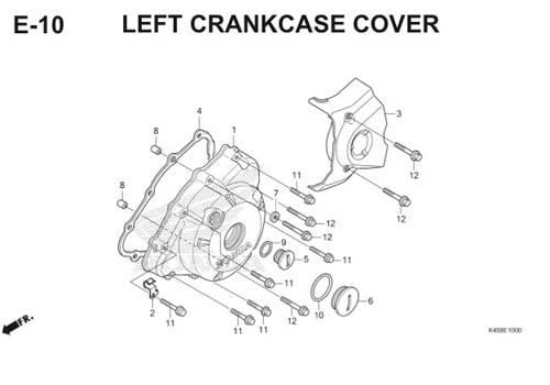 E-10 Left Crankcase Cover CBR 150R K45A