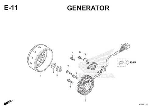 E-11 Generator CB150R StreetFire K15