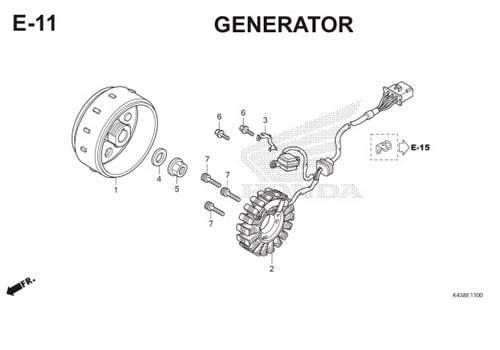 E-11 Generator CBR 150R K45A
