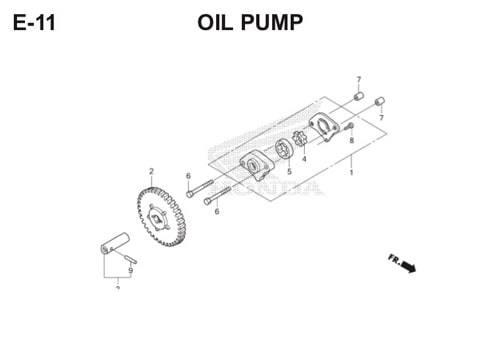E11 – Oil Pump – Katalog Honda Scoopy eSP K16