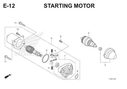E12 – Starting Motor – Katalog Honda Scoopy eSP K16