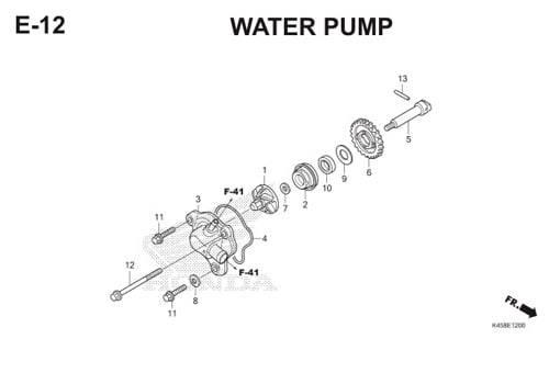 E-12 Water Pump CBR 150R K45A