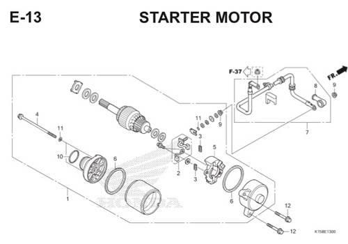 E-13 Starter Motor CB150R StreetFire K15