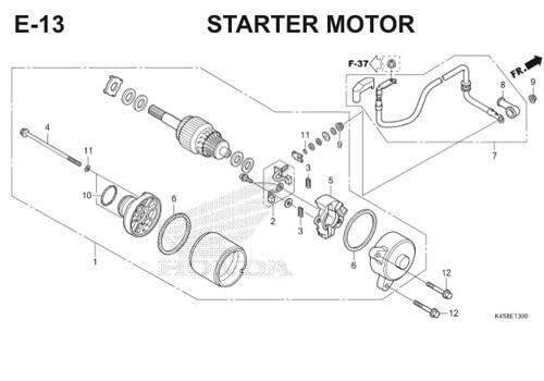 E-13 Starter Motor CBR 150R K45A