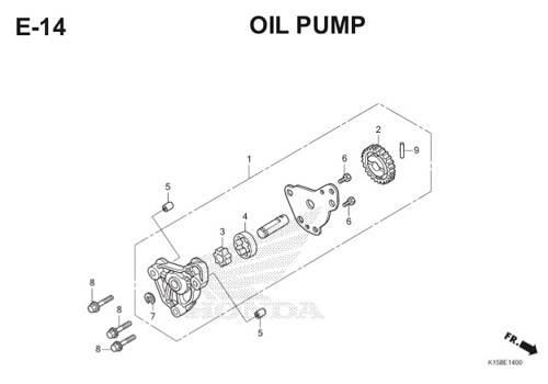 E-14 Oil Pump CB150R StreetFire K15