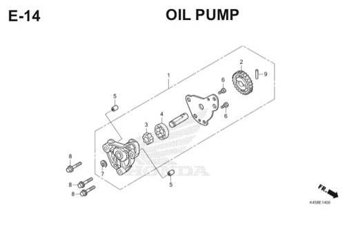 E-14 Oil Pump CBR 150R K45A