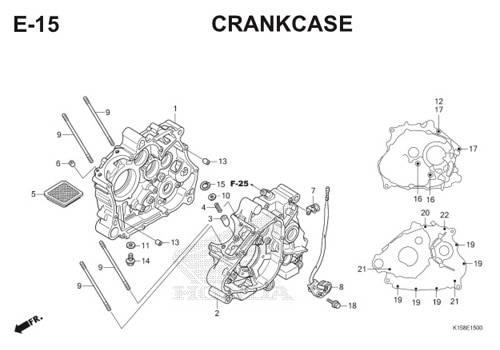 E-15 Crankcase CB150R StreetFire K15