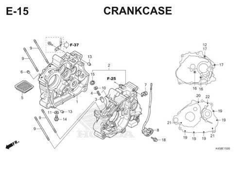 E-15 Crankcase CBR 150R K45A